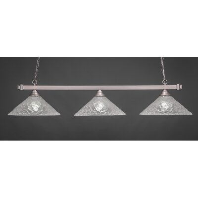 3-Light Pool Table Light Finish: Brushed Nickel