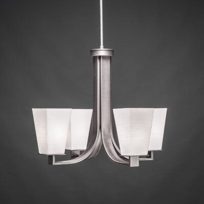 Apollo 4-Light Shaded Chandelier