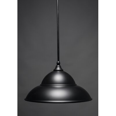 Stem 1-Light Mini Pendant Finish: Matte Black, Size: 9.75 H x 16 W