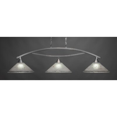 Bow 3-Light Downlight Kitchen Island Pendant Finish: Brushed Nickel