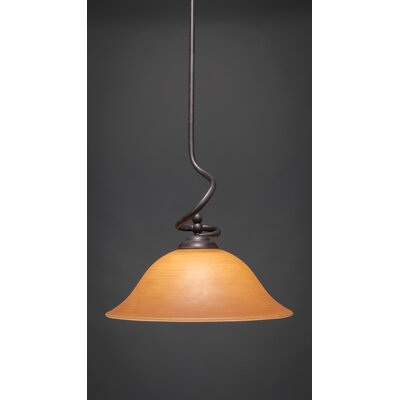 Capri Stem Pendant With Hang Straight Swivel Shade Color: Cayenne Linen