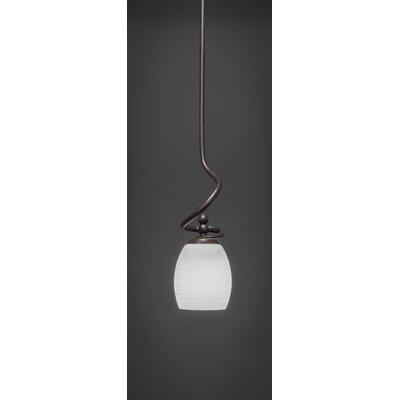 Capri Stem Mini Pendant With Hang Straight Swivel Shade Color: White Linen