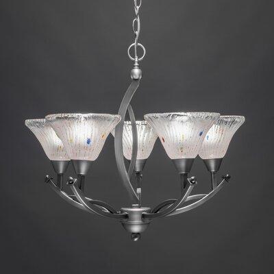 Bow 5-Light Shaded Chandelier Finish: Brushed Nickel