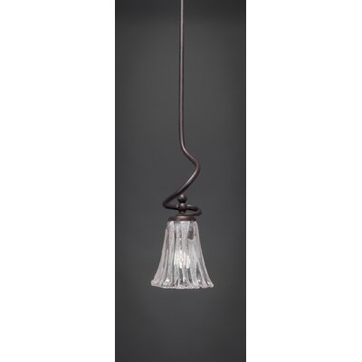 Capri Stem Mini Pendant With Hang Straight Swivel Shade Color: Italian Ice