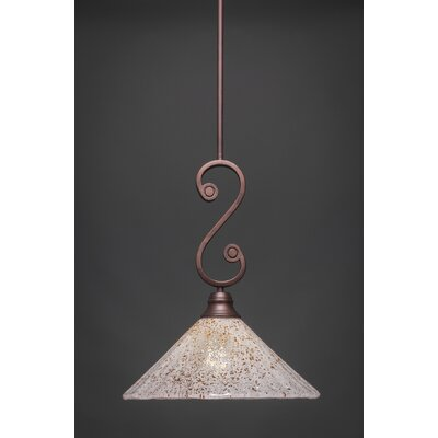 Babin Mini Pendant With Hang Straight Swivel Size: 12 W, Shade Color: Gold Ice Glass