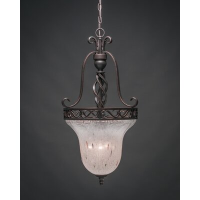 Elegant� 3-Light Foyer Pendant Shade Color: Frosted Crystal