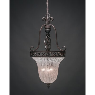 Elegant� 3-Light Foyer Pendant Shade Color: Italian Ice