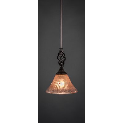 Weathers Mini Pendant With Hang Straight Swivel Shade Color: Kiwi Green Crystal Glass, Size: 7 W