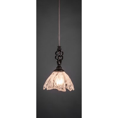 Weathers Mini Pendant With Hang Straight Swivel Shade Color: Italian Ice Glass, Size: 7 W