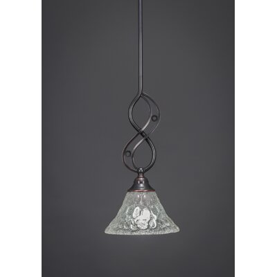 Jazz Mini Pendant With Hang Straight Swivel Finish: Black Copper, Shade Color: Italian Bubble Glass, Size: 7 W