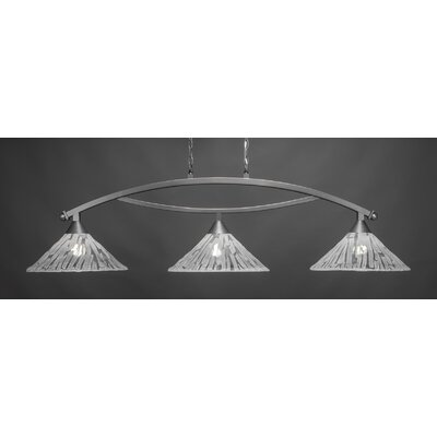 Bow 3-Light Kitchen Island Pendant