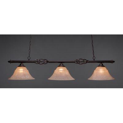 Elegante 3-Light Billiard Light Size: 11.5 H x 55 W