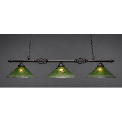 Elegante 3-Light Billiard Light Shade Color: Kiwi Green