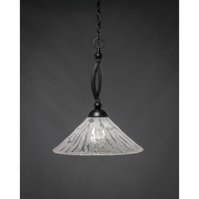 Eisenhauer 1-Light Matte Black Mini Pendant Size: 19.75 H x 16 W