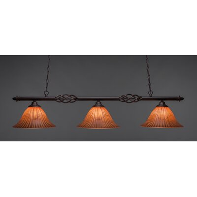 Elegante 3-Light Billiard Light Size: 11.5 H x 55 W