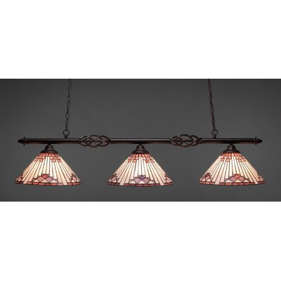 Elegante 3-Light Billiard Light Shade Color: Purple