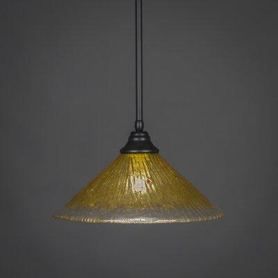 Stem 1-Light Mini Pendant Shade Color: Gold Champagne