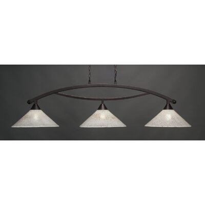 Blankenship 3-Light 150W Kitchen Island Pendant Color: Dark Granite