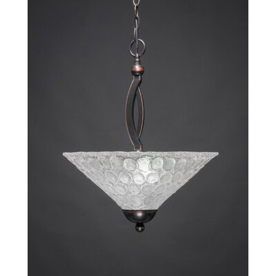 Eisenhauer 2-Light Metal Inverted Pendant Finish: Black Copper