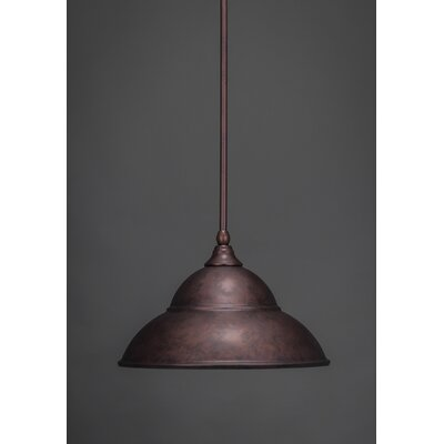 Stem 1-Light Mini Pendant Size: 9.25 H x 16 W, Finish: Dark Granite