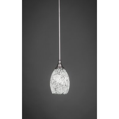 Becton 1-Light Stem Mini Pendant With Hang Straight Swivel Size: 5