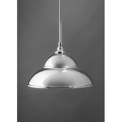 Stem 1-Light Mini Pendant Finish: Chrome, Size: 8.5