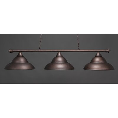 Passabe 3-Light Metal Billiard Light Finish: Bronze