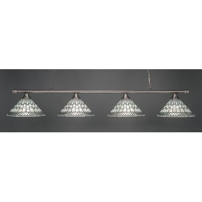 Passabe 4-Light Tiffany Shade Billiard Light