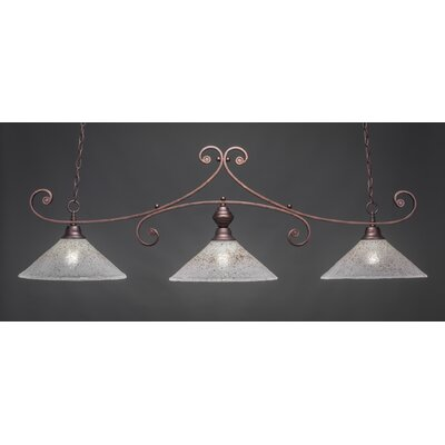 Babin 3-Light Kitchen Island Pendant Color: Bronze
