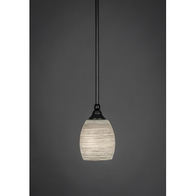 Stem 1-Light Mini Pendant Shade Color: White