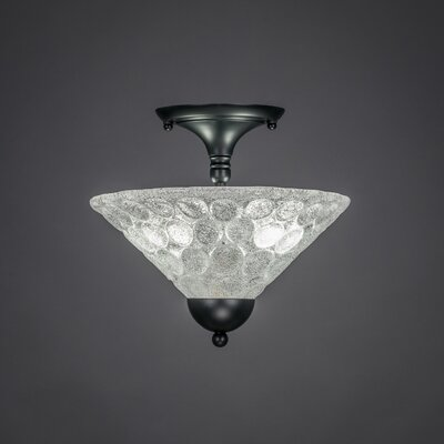 2-Light Semi Flush Mount