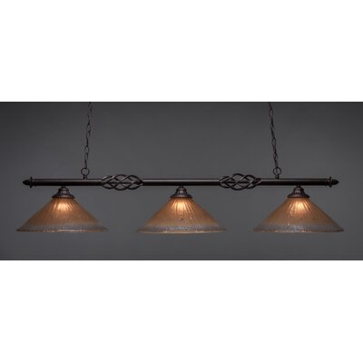 Elegante 3-Light Billiard Light Shade Color: Amber