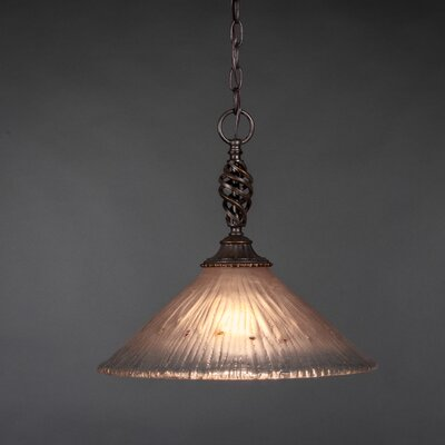 Elegant� 1-Light Pendant Shade Color: Amber Crystal Glass