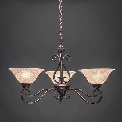 Olde Iron 3-Light Shaded Chandelier