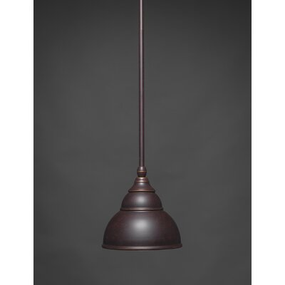 Brehmer Stem Mini Pendant With Hang Straight Swivel Finish: Brushed Nickel