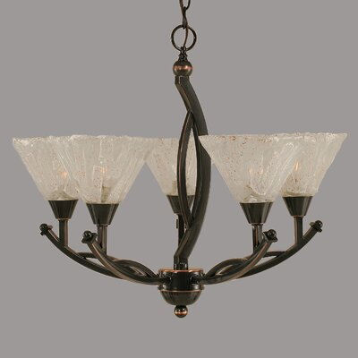Bow 5-Light Shaded Chandelier Size: 20.25 H x 23 W