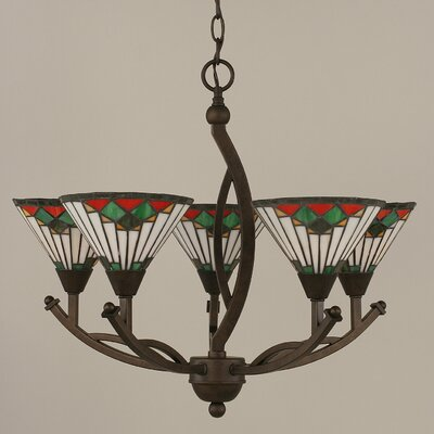 Essonnes 5-Light Shaded Chandelier