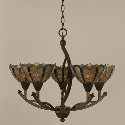Bow 5-Light Shaded Chandelier Size: 20.25 H x 22.5 W x 22.5 D
