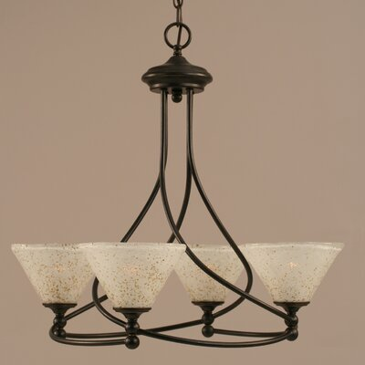 Capri 4-Light Shaded Chandelier