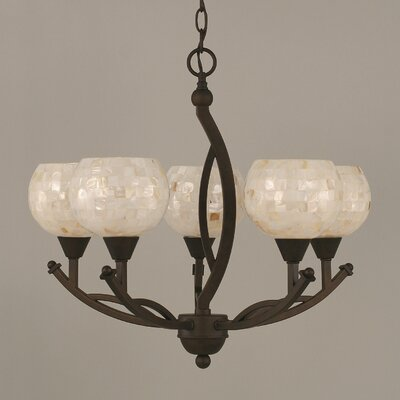 Bow 5-Light Shaded Chandelier Shade Color: Mystical