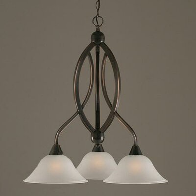 Blankenship 3-Light 100W Shaded Chandelier Finish: Black Copper