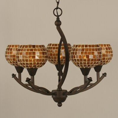 Bow 5-Light Shaded Chandelier Size: 20.25 H x 21.5 W x 21.5 D