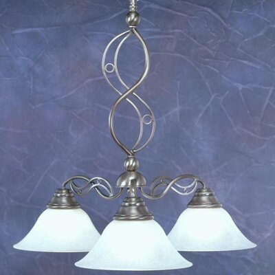 Jazz 3-Light Shaded Chandelier Finish: Brushed Nickel