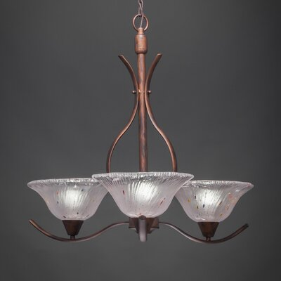Swoop 3-Light Shaded Chandelier Shade Color: Frosted