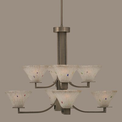 Apollo 8-Light Shaded Chandelier
