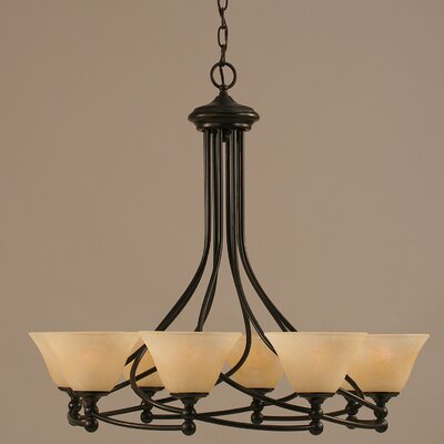 Capri 8-Light Shaded Chandelier Shade Color: Italian Ice