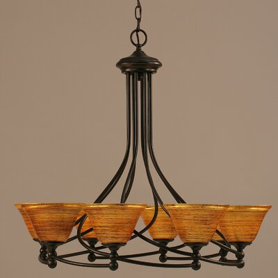 Capri 8-Light Shaded Chandelier Shade Color: Firre Saturn