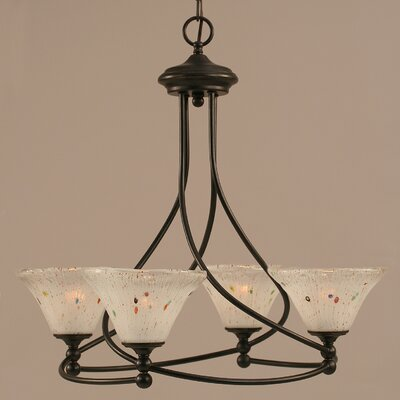 Capri 4-Light Shaded Chandelier Shade Color: Frosted