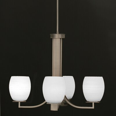 Apollo 4-Light CShaded Chandelier