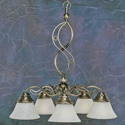 Jazz 5-Light Shaded Chandelier Finish: Brushed Nickel